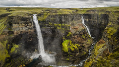 Twin falls (danielfj91) Tags: iceland fossá foss water waterfall waterfalls nature landscape highlands attraction inspiration green