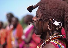 Safari (imanolg) Tags: tribu raro weird earring safari masaimara masai kenia africa