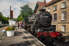 44806 at Grosmont station (Dave2638) Tags: grosmont eskvalley nymr