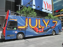 Spider-Man Homecoming Bus Ad 2017 NYC 8275 (Brechtbug) Tags: spiderman homecoming bus ad movie poster billboard 49th street 7th avenue 2017 nyc super hero marvel comic comics character spider man new york city film billboards standee theater theatre district midtown manhattan amazing home coming ads advertising hammock cel phone cell mobile cellphone