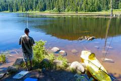 trillium lake family hike (dolanh) Tags: hiking mthoodwilderness angler oregon kayak fishing trilliumlake
