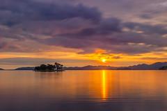 sunset 9457 (junjiaoyama) Tags: japan sunset sky light sun sunshine cloud weather landscape orange contrast colour bright lake island water nature summer