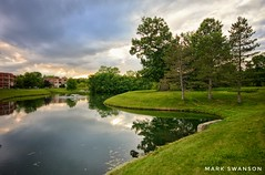 Evening Stroll (mswan777) Tags: pond walk sunset sky cloud olmsted falls ohio travel evening summer tree water nikon d5100 sigma 1020mm outdoor