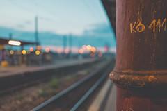KO 111 (mripp) Tags: art kunst vintage retro old railway colors night nacht street strase leica q