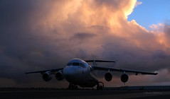 BAe 146 (Teutonic01) Tags: cobham bae146 vhnjz adelaideairport sunset winter cloud storm