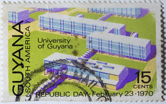 Guyana Republic Day 1970 15 cents