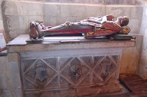 Goudhurst, St Mary's church, wooden effigy of Sir Alexander Culpeper