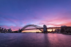 Red Bridge (Crouchy69) Tags: sunset dusk landscape seascape ocean sea water reflection clouds sky sydney harbour bridge australia