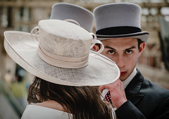 Ascot headgear (jonron239) Tags: london waterloo hats ascot race meeting station expression glance