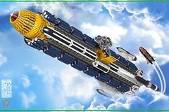 Queen Aurora 33a (messerneogeo) Tags: messerneogeo robot mech mecha ninja ganzo queen aurora spaceship battleship lego