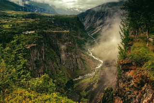 The canyon of Voringfossen