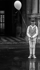 White Balloon (Robert Borden) Tags: boy balloon white bw child portrait europe germany cologne koln wedding canon canonphotos