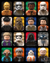 The Force Awakens Main Cast (kyle.jannin) Tags: lego legostarwars legostarwarstheforceawakens starwars theforceawakens episode7 episodevii vii 7 c3p0 captainphasma finn firstorder flame trooper general hux chewbacca rey poe dameron leia princess stormtroopers kyloren r2d2 maz kanata hansolo bb8 lor san tekka