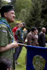 BPSA picnic circle (K.Logan.Sullivan) Tags: badenpowellscouts bpsa laurelhurstpark picnic welcome blueden flag scouting