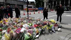 London Bridge, memorial flowers (timothyhart) Tags: london bridge june 2017 memorial flowers solidarity support victims injured
