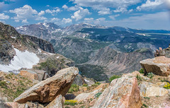 Top of the World - Beartooth Hwy 1528 (BlueberryAsh) Tags: beartoothhwy usa2015 yellowstone yellowstone2015 wyoming america valleys beartoothpass rocks snow clouds landscape outdoor nikond600