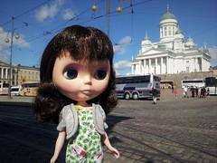 H is for Helsinki, a city we love very much. (The Dutchlady) Tags: 2017 june abc challenge dollandbearchallenge h helsinki zoë fp doll pop blythe public