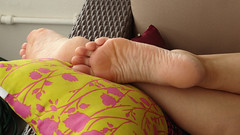 DSC06951red (thermosome) Tags: foot feet mature soles wrinkled milf