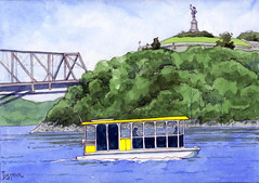 Aqua taxi (Michael Lukyniuk) Tags: ottawariver watercolour landscape