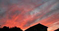 2 Red sky sunset over Canterbury 15 June 2017 (Jim_Higham) Tags: fiery sky picturesque abstract art