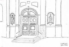 Eglise St Etienne by Guénaël - 14 juin 2017 (GwenFromRennes) Tags: sketch croquis eglise church