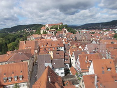 June 7 - Baden-Württemberg - Tübingen - panorama from Stiftskirche - St. George's Collegiate Church - looking west toward Schloss (docslwe) Tags: badenwürttemberg tübingen stiftskirche