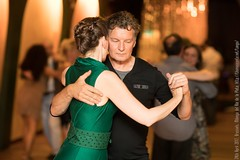 Agnès and Kobi, Brussels, Milonga del Rio de la Plata, April 2017