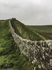 .......on the crags following a wall..... (mishlove1) Tags: britian cumbria england greatbritian hadrians hadrianswall hadrianswallwalk hike hikehiking hiking northofengland omdem10ii olympus travel uk vacation iphone