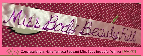 Hana Yamada Pageant Miss Body Beautiful Winner 6-24-2017