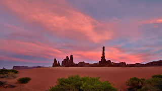 Unexpected Sunset Show at Monument Valley - Totem Pole