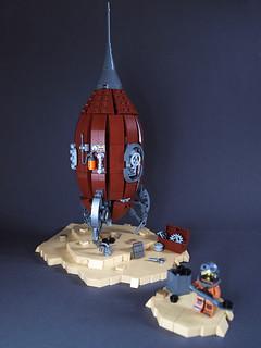 Steam Rocket. Pit stop.