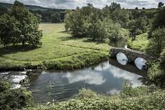 Haddon Hall (TheDavePhotoAlbum) Tags: haddon hall medieval tudor stately home bakewell derbyshire garden river wye water landscape bridge