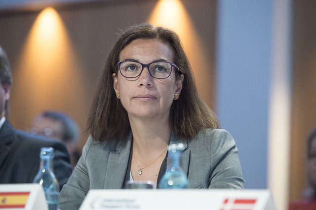 Paloma Iribas attending the Closed Ministerial
