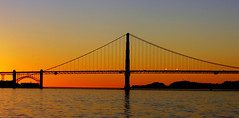 Golden Gate Sunset. (Bernard Spragg) Tags: usa sunset bridge goldengatebridge evening lumix glow dusk