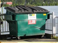 Waste Management Dumpster (TheTransitCamera) Tags: waste rubbish trash removal hauling bin wm wastemanagement dumpster green newwestminster canada city