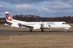 HB-IZW EDI 3-3-2000 (Plane Buddy) Tags: hbizw saab 2000 crossair edi edinburgh