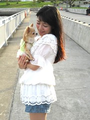 Years May Come And Go (emotiroi auranaut) Tags: lady woman pretty lovely beauty beautiful nice dog dress shorts friend friendship japan japanese asia asian tokyo sweet