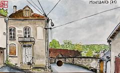La France des Sous-Préfectures 21 (chando*) Tags: aquarelle watercolor croquis sketch france