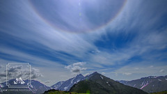 Sun Halo at Flattop (fentonphotography) Tags: alaska flattop summer sunhalo rainbow mountains chugach landscape clouds bluesky