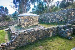 The thick walls of stone masonry at Wilkawain.