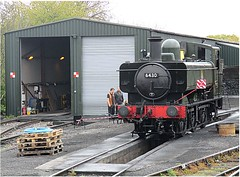 On-hire Pannier Tank Engine 6430 sits outside the shed at North Weald, EOR Epping Ongar Railway 22.04.17 (Trevor Bruford) Tags: eor epping ongar heritage railway north weald train steam locomotive 060pt pannier tank engine br 6430 llangollen