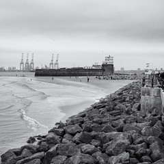 Seashore (Tim Ravenscroft) Tags: seashore newbrighton fort mersey monochrome blackandwhite blackwhite england hasselblad hasselbladx1d x1d