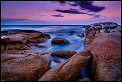 Bicheno Series #3 Chute (niggyl (well behind)) Tags: bicheno bichenotasmania douglasapsleynationalparkbichenotasmania paddyshead tasmansea diamondisland waubsbay fujifilm fujixpro2 fujifilmxpro2 xpro2 xf18mmf2 coastal coastline granite island fujinonxf18mm longexposure cloudsstormssunsetssunrises