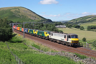 90048+90043+90042 Lune Gorge 8th July 2017