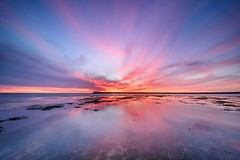 Wide angle sunset (EXLORE) (Ellen van den Doel) Tags: zonsondergang goeree landscape sunset wolken trotsopflakkee long mei nederland outdoor netherlands evening zee clouds holland sea le 2017 ocean landschap kleur exposure overflakkee dutch sky seascape lucht color ouddorp brouwersdam zuidholland nl