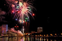 boom..in Rochester NY (frptlady....) Tags: rochesterny july4th2017 fireworks fujixt10 boatride geneseeriver downtown