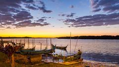 Medeiros Island - Sunrise (Cristofer Martins) Tags: sunrise river island nature landscape landscapes ilha guaraqueçaba medeiros pôrdosol água céu mar
