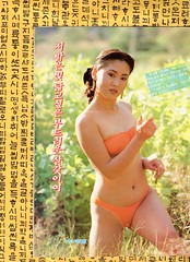 """Seoul Korea vintage Korean pin-up circa 1990 from the Weekly Kyunghyang magazine - """"Bright Sunshine-y"""" (moreska) Tags: seoul korea vintage korean pinup 1990 weekly kyunghyang calendargirl bikini seminude posed staged outdoor hangul fonts graphics mensmagazines massmedia publications gossiprags social change nineties nature oldschool retro 주간경향 collectibles rok asia"""