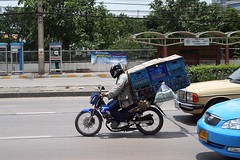 a leading cause of... (the foreign photographer - ฝรั่งถ่) Tags: motorcycle leading plastic boxes chaengwattana road bangkhen bangkok thailand canon