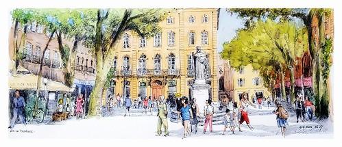 Aix en Provence - Provence - France - Cours Mirabeau